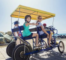 CA-Oceanside-Pier-Family-On-Surrey-Beach-Bike-Rental